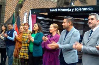 Inauguran el Túnel de la Memoria y Tolerancia 2.0