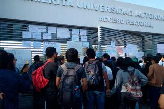 Realizaron paro de actividades académicas en la BUAP