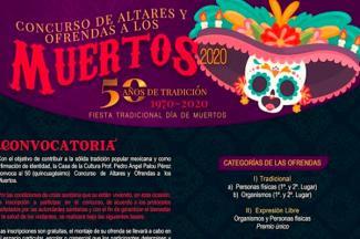 Celebrará Cultura el Día de Muertos con exposición fotográfica de ofrendas