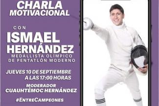 Impartirá el pentatleta Ismael Hernández charla motivacional