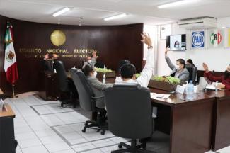 Solicita INE Puebla apoyo de seguridad, juzgados y notarías para la jornada electoral
