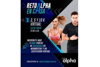 Club Alpha se alista para el Reto Virtual de 3, 5 y 10 K