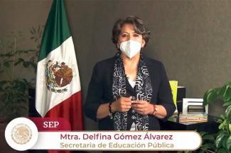 Reitera Delfina Gómez Álvarez apertura al diálogo con el magisterio