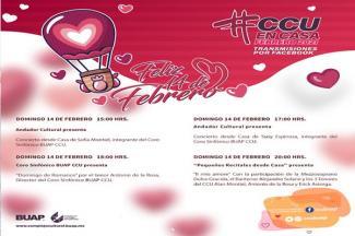 """CCU BUAP ofrecerá """"Conciertos para enamorados"""" en línea"""