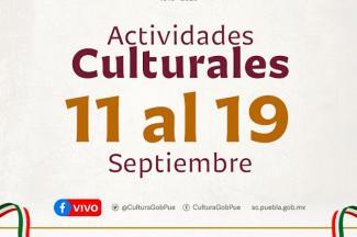 Prepara Secretaría de Cultura programación virtual por fiestas patrias