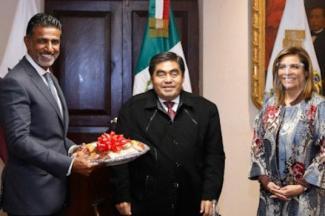 Dialoga MBH con embajador de Qatar para consolidar agenda bilateral