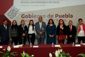 Instala Segob Comisión de Atención a Víctimas del Estado de Puebla